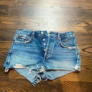 Agolde denim shorts size 26
